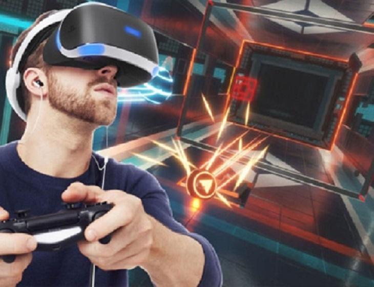 Gamen in VR Café